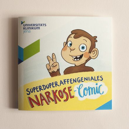 Don't be afraid of surgery! Comic monkey takes pediatric patients by the hand