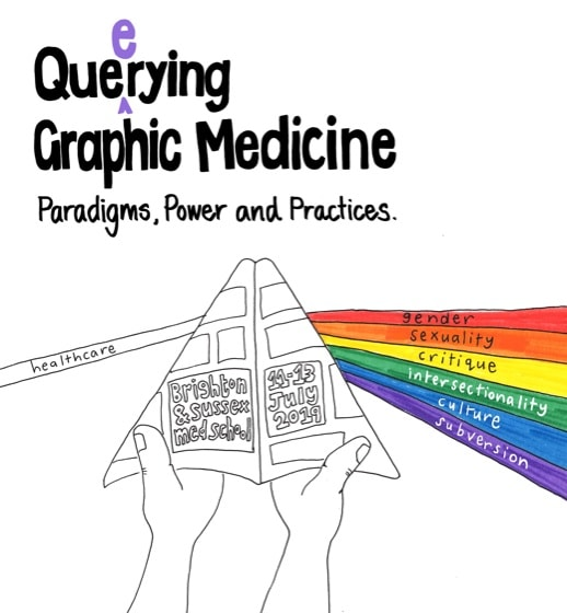Logo from Que(e)rying Graphic Medicine Conference